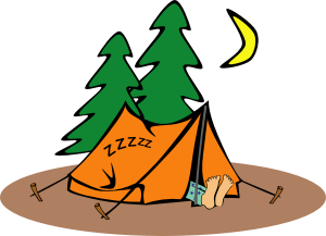 Camper Sleeping Image